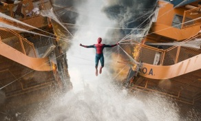 Spider-Man struggles to pull the ferry together in Columbia Pictures' SPIDER-MAN™: HOMECOMING.