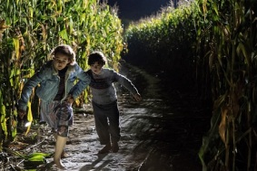 Left to right: Millicent Simmonds and Noah Jupe in A QUIET PLACE, from Paramount Pictures.