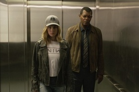 Marvel Studios' CAPTAIN MARVEL..L to R: Captain Marvel (Brie Larson) and Nick Fury (Samuel L. Jackson) ..Photo: Film Frame..©Marvel Studios 2019