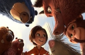 Top left clockwise, Boomer, Greta Peanut, Steve June, Copper and Gus in a scene from the animated film, WONDER PARK by Paramount Animation and Nickelodeon Movies.