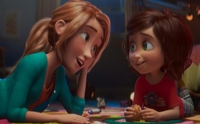 June, right, and her mom in a scene from the animated film, WONDER PARK by Paramount Animation and Nickelodeon Movies