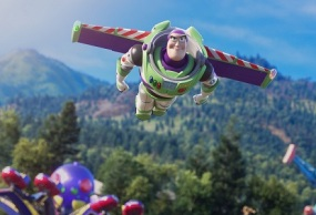 "AND BEYOND – Buzz Lightyear is back on the big screen in Disney and Pixar's ""Toy Story 4,"" joining Woody and the whole gang on an eye-opening road trip that takes them to unexpected places, including a carnival. Featuring Tim Allen as the voice of Buzz, ""Toy Story 4"" opens in U.S. theaters on June 21, 2019. ©2019 Disney/Pixar. All Rights Reserved."