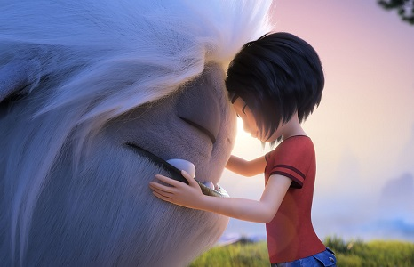 (from left) Everest and Yi (Chloe Bennet) in DreamWorks Animation and Pearl Studio's Abominable, written and directed by Jill Culton.