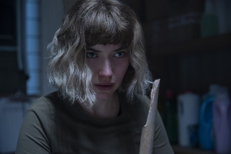 "Imogen Poots as Riley in ""Black Christmas,"" co-written and directed by Sophia Takal."