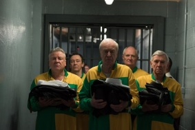 v.l.n.r.: Danny Jones (Ray Winstone), Carl Wood (Paul Whitehouse), Brian Reader (Michael Caine), Terry Perkins (Jim Broadbent), John Kenny Collins (Tom Courtenay)